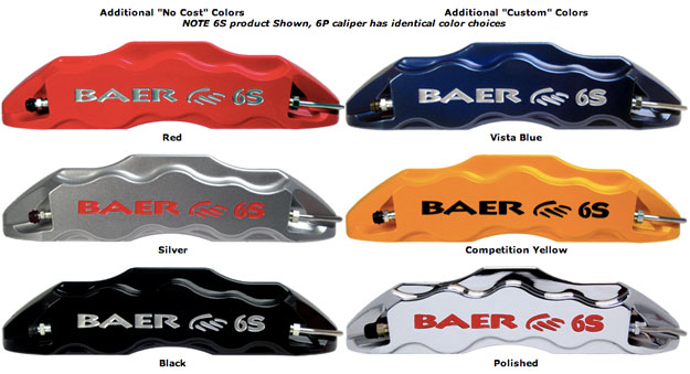 Baer Brakes Colors