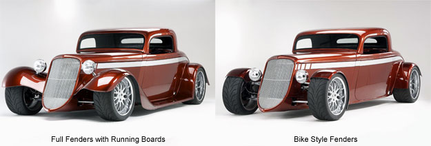Factory Five '33 Hot Rod Fender Kit Options