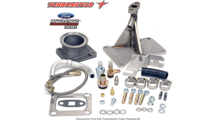 Turbo pedestal-mounting kits for the Ford 6.0L Powerstroke diesel truck
