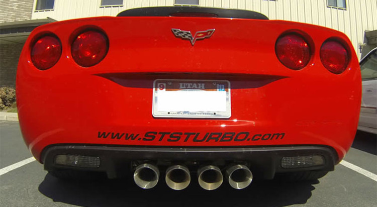 STS Corvette Remote Mounted Twin Turbo Kit