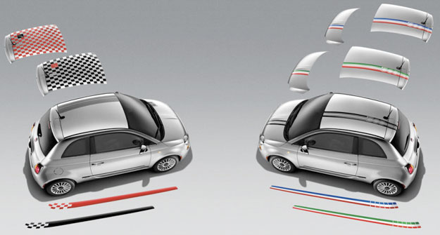 Fiat 500 Hood and Roof Graphics