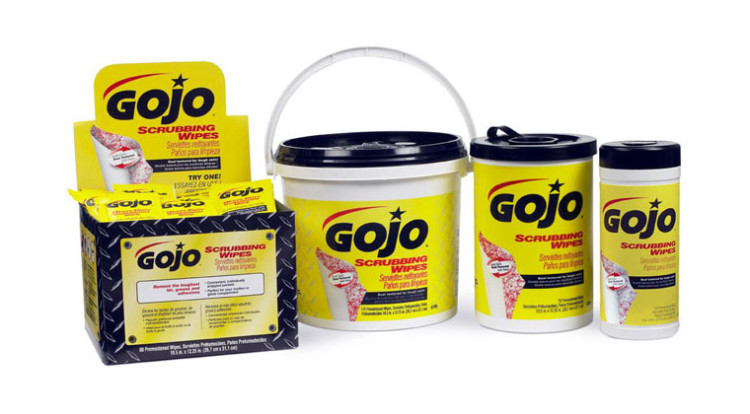 GoJo Scrubbing Wipes Hand Cleaner