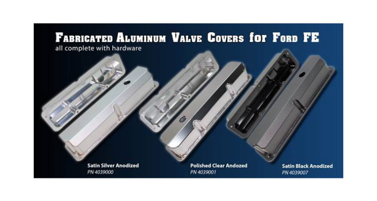 PRW Ford FE fabricated Aluminum Valve Covers
