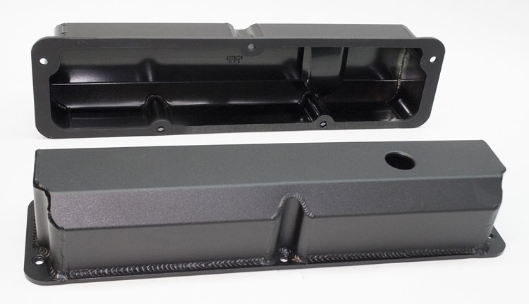 Ford Big Block Black Aluminum Valve Covers
