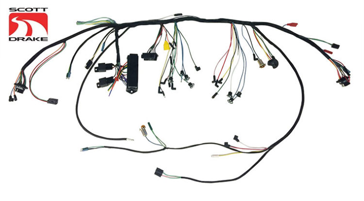 Scott Drake 1966 Mustang Under-Dash Wiring Harness