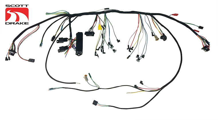 scott drake premium under dash wiring harnesses with relays for 1966 rh motorator com Light Switch Wiring Diagram scott riding lawn mower wiring diagram
