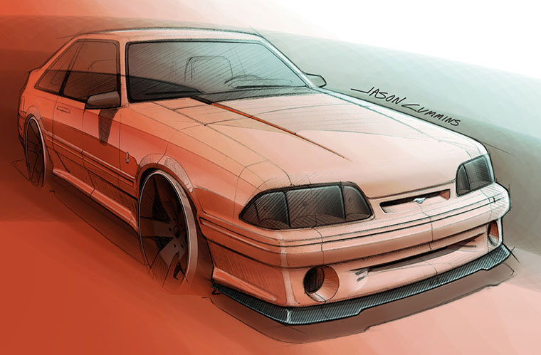 Fox Body Mustang Gt Front Splitter