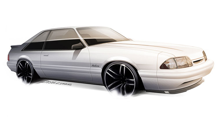 Fox Body Mustang LX Front Splitter