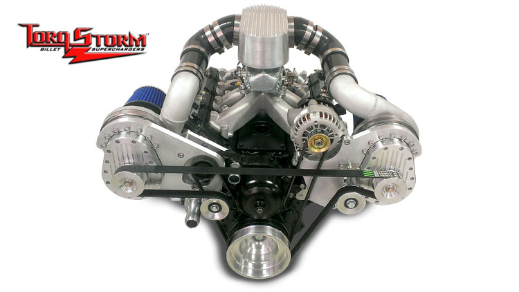 GM LS Engine Twin and Single Supercharger Kits from TorqStorm